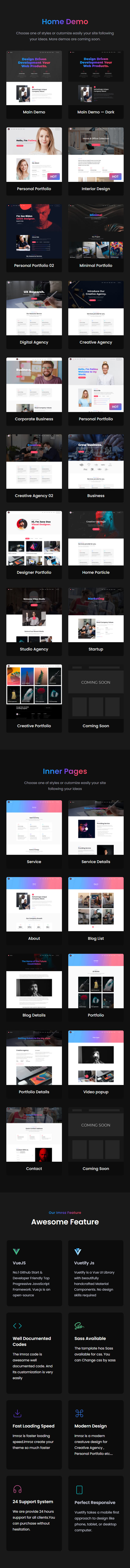 Imroz - Creative Agency & Portfolio VueJS Template - 8