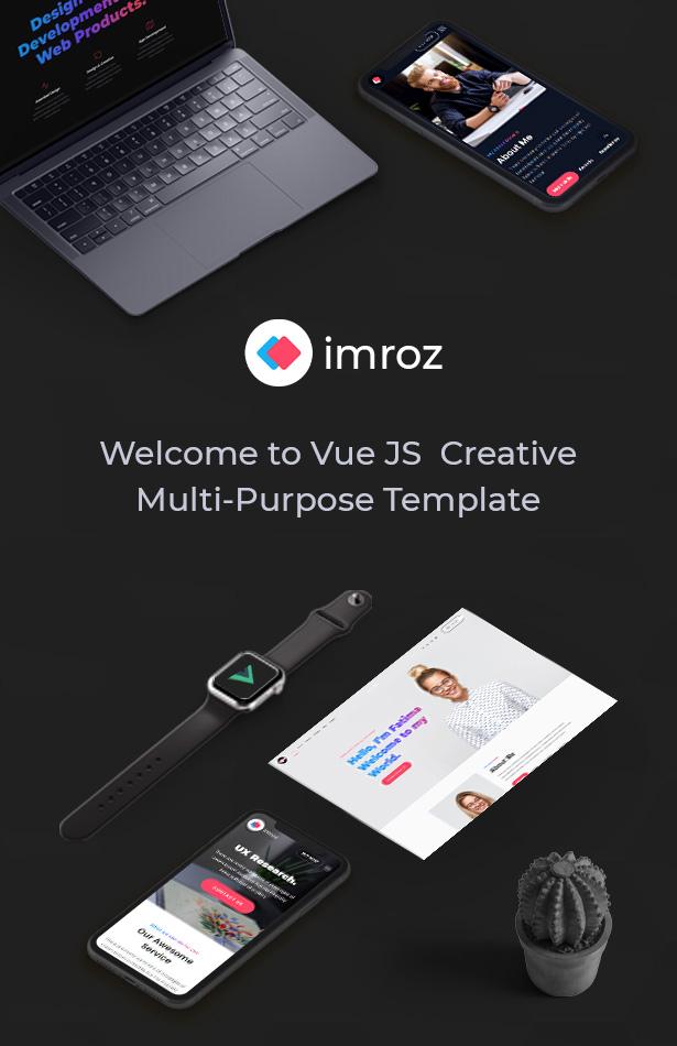 Imroz - Creative Agency & Portfolio VueJS Template - 7